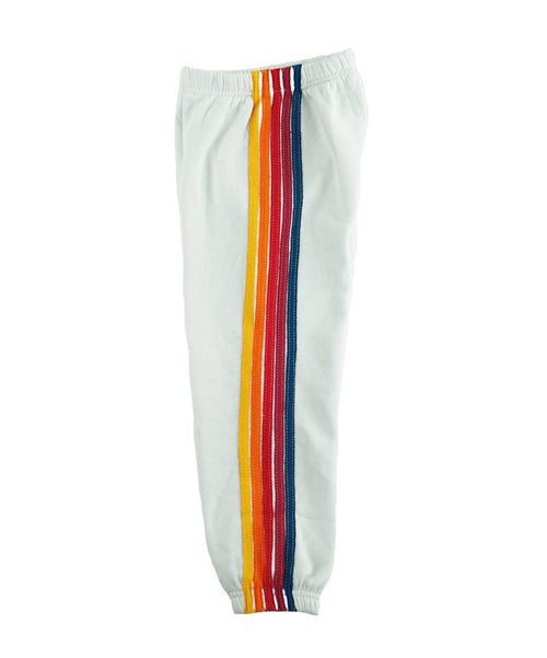 Aviator Nation Stripe White Sweatpants