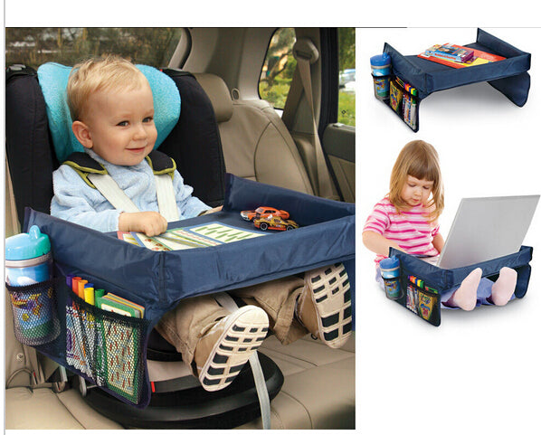 Best seller! Child Car Seat Tray Waterproof Storage. Sturdy Tray , Car Table Holder with Tray Desk Infants Car Organizer
