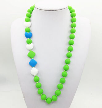 New trendy design. Wearable Silicone Teething necklace for baby