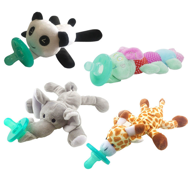 Cute Newborn Baby Soother Silicone Orthodontic Pacifier. Choose from Bear, Caterpillar,Giraffe, Elephant Pacifier