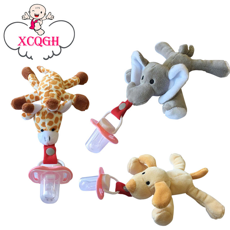 This Adorable Baby Pacifier Has A Removable With Lid And A Detachable Toy. Choose Either Giraffe,Puppy, Elephant W/Silicone Nipple For Newborns