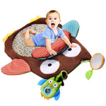 Play Away - Owl Baby Infant Tummy Time Play Mat. Multi use design with detachable parts.