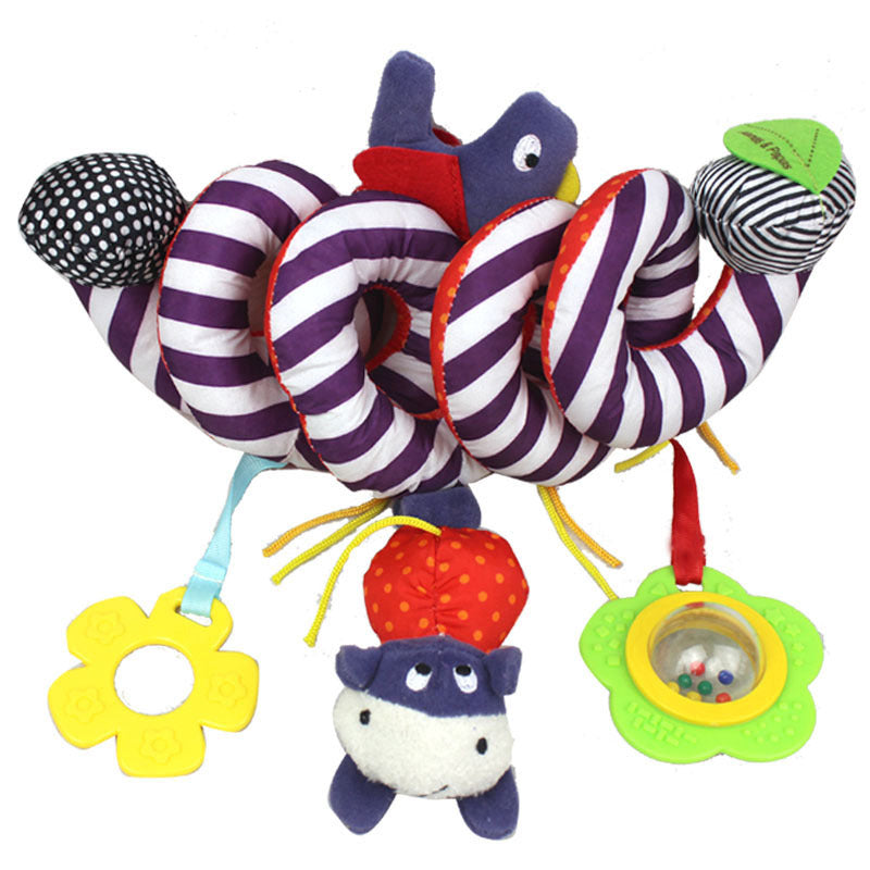 Adorable crib toy, spiral design makes it perfect for crib, stroller , car seat and more. Baby will love this toy.