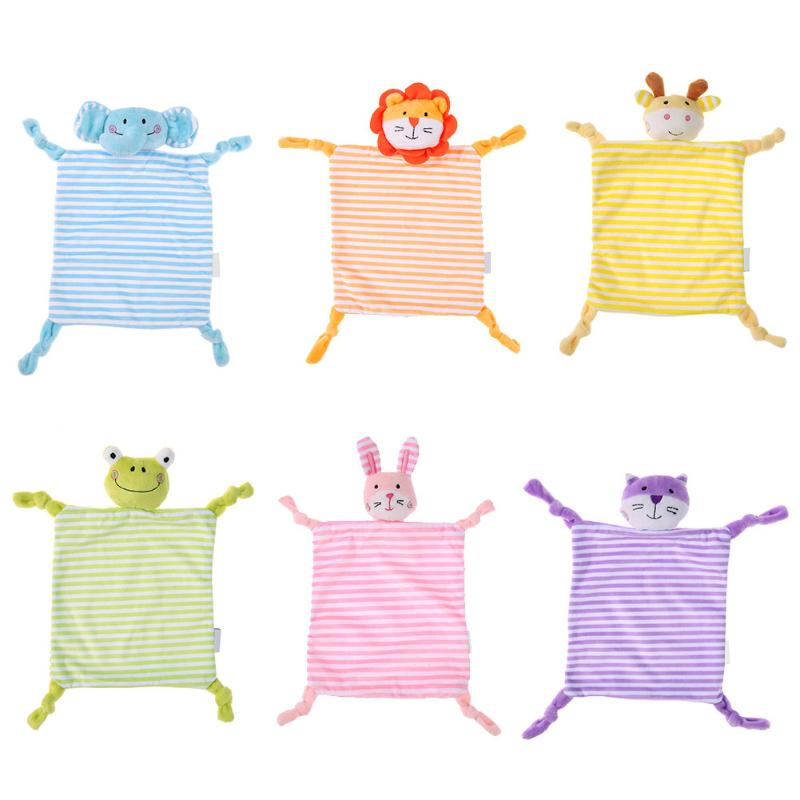 Baby chewy Towel /Blanket with cute Stuffed Animal Shape.  Infant Baby Soft Soothe Towel