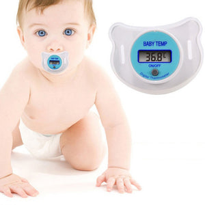 Baby Pacifier Thermometer.  LCD Digital. Designed to easily measure baby's temperature in 3 minutes.