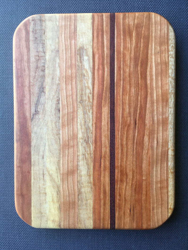 Hard maple, cherry and just a touch of bubinga cutting board 8