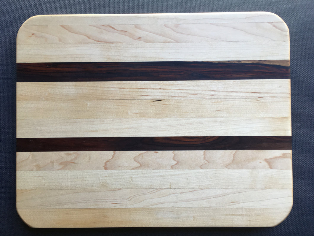 Hard maple and cocobolo cutting board 12