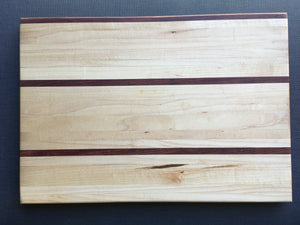 "Hard maple and bubinga cutting board 11"" x 15.5"""