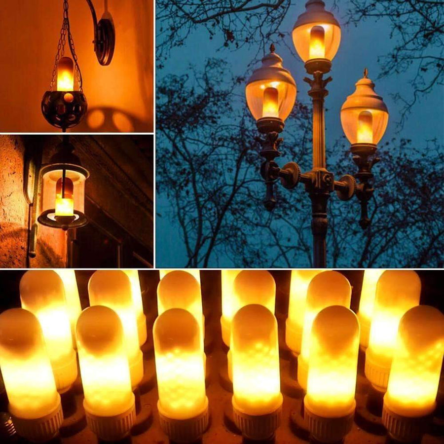 LED Flame Lamp with Fire Effect