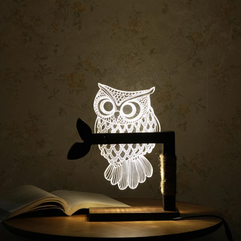 Elegant 3D Owl Nightlight Fuzz Store - Amazing Things for Amazing People