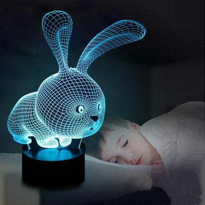 Lovely 3D Rabbit Shape Lamp LED
