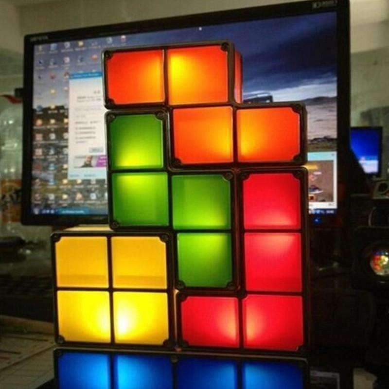 Tetris Light Stackable LED Desk Lamp Geek Trendy Land