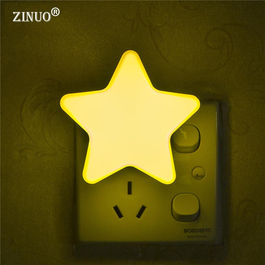 Mini Star LED Night Light With Light Sensor