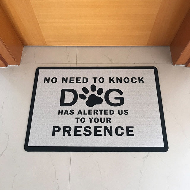 Doormat Entrance No Need To Knock Dog