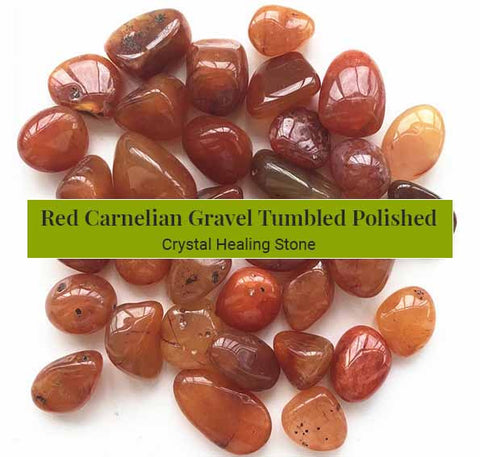Red Carnelian Gravel Tumbled Polished Crystal Healing (BC180)