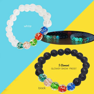 Gelang Snow Frost 5 Unsur FengShui (Glow In The Dark) (GLU05)