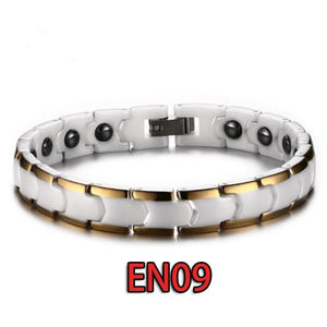 Gelang Tangan Premium White Snow (Energy Magnetic Germanium)(EN09)
