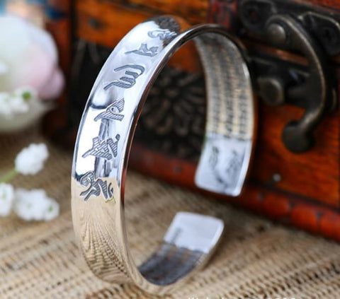 Gelang The Heart Of Protection Heart Sutra & Om Mantra ALL SIZE (LA08)