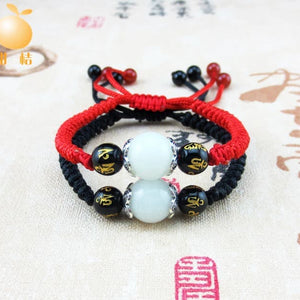 Gelang Tibetan Om Mani Padme Hum Lucky Couple Glow In The Dark (GCK5)