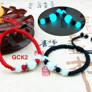 Gelang Tibetan Lucky Couple Glow In The Dark - Adjust Rope (GCK2)