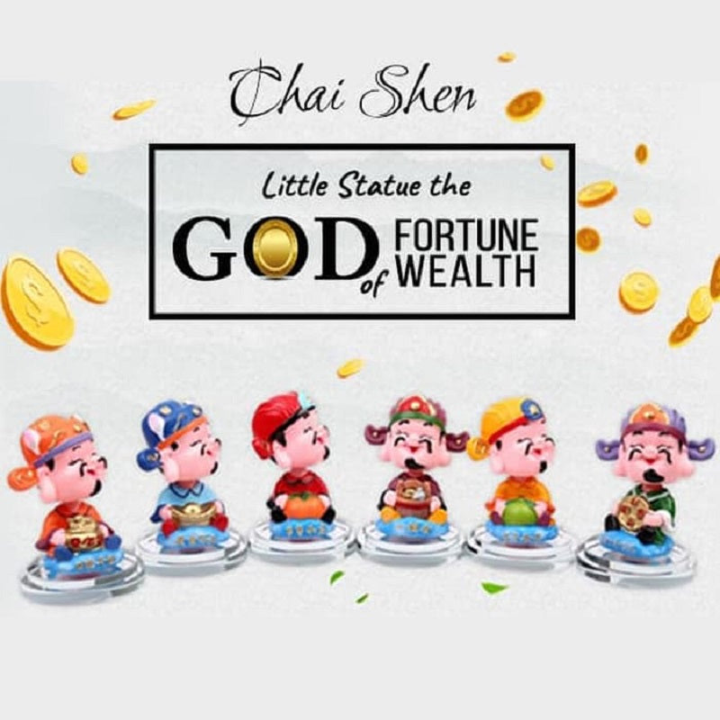 Dekorasi Mobil & Rumah God Of Fortune Chai Shen Shaking Head - IMA02