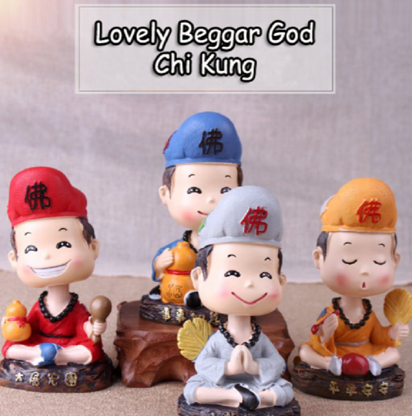 Dekorasi Mobil & Rumah Lovely Beggar God Chi Kung Shaking Head - IMA01