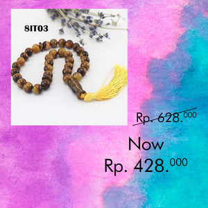 Tasbih Dekorasi Mobil Tiger Eye Stone (8IT03)