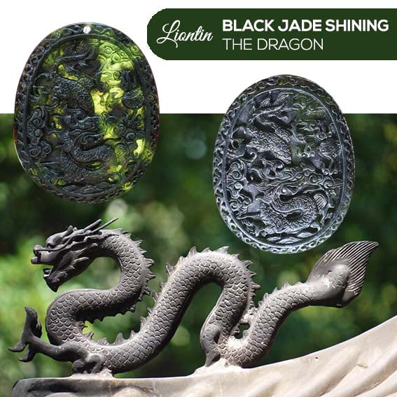 Liontin Black Jade Shining (Dragon) (AD05)