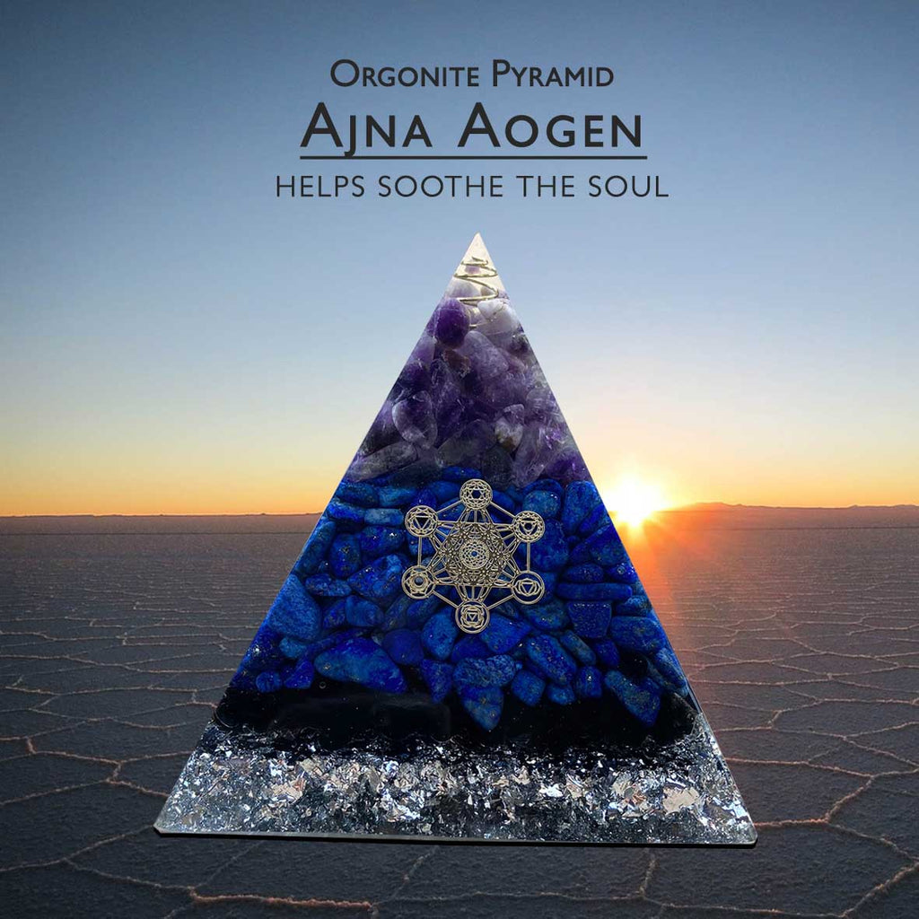 Orgonite Pyramid Ajna Aogen Helps Soothe The Soul (BC175)