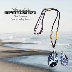 Kalung Liontin India Chrysanthemum Oval Polished (LBP86)