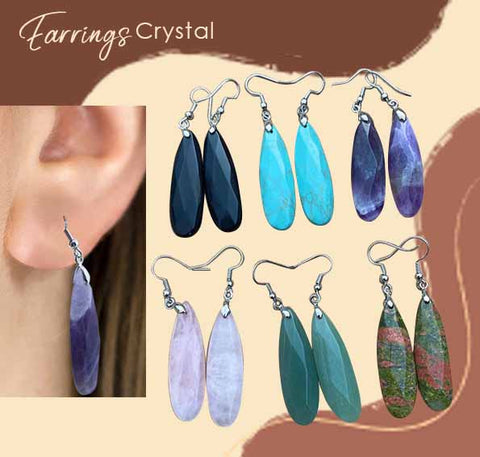 Anting Liontin Crystal Stone (LT06)