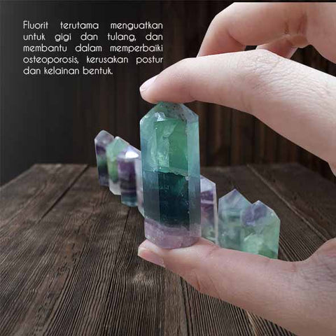 Crystal Healing Fluorite Wand Point Stone (BC110)