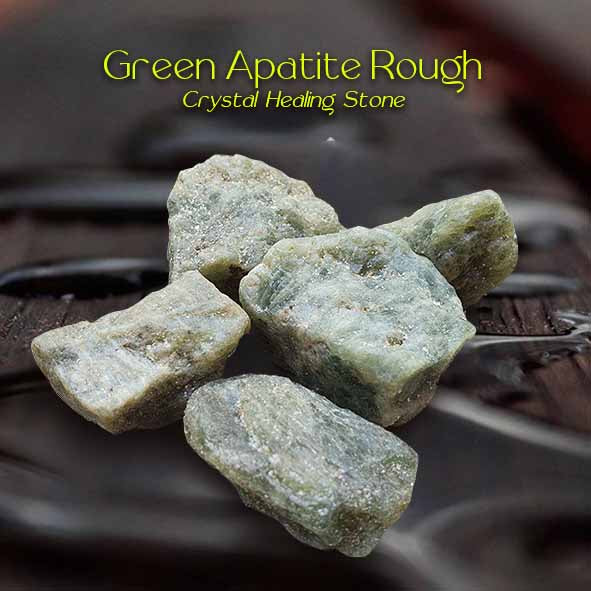 Green Apatite Rough Crystal Healing Stone (BC143)