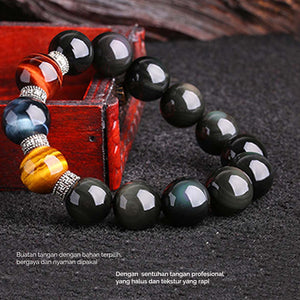 Gelang Rainbow Obsidian Stone Of Heaven Eye (GCK6)