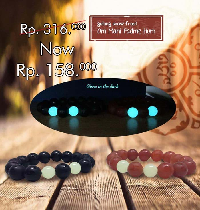 Gelang Snow Frost Stone Glow In The Dark (GCS21)⁣