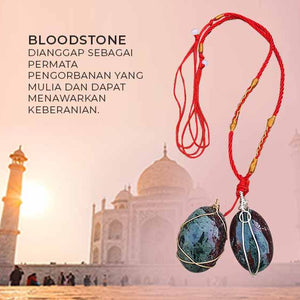 Kalung Liontin India Bloodstone Oval Polished (LBP85)