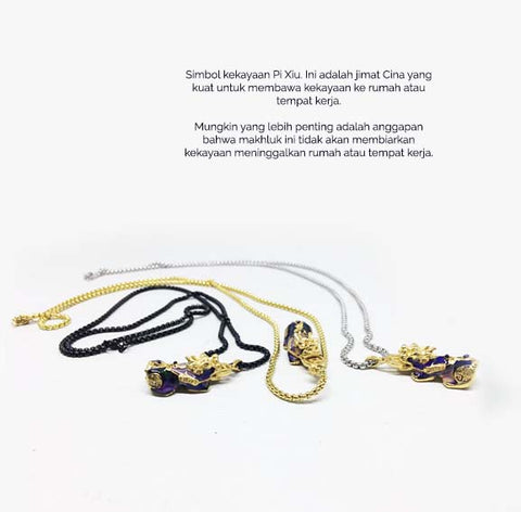 Kalung Liontin Pi Xiu (Berubah Warna) Lucky Wealth Money (8BK07)