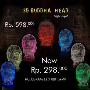 3D Buddha Head Night-Light Hologram Led Usb Lamp (LMA02)⁣