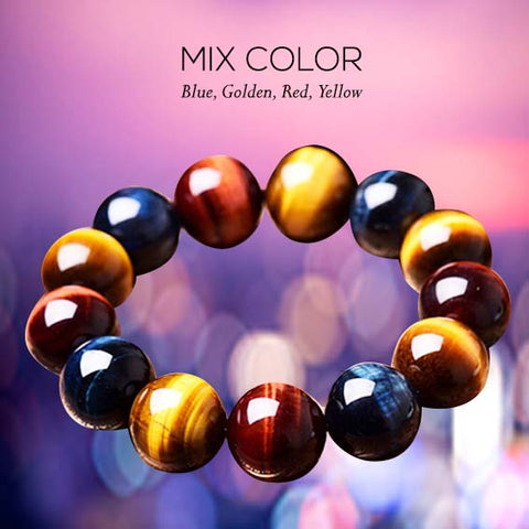 Gelang Mix Color Tiger Eye Stone (GCK8)