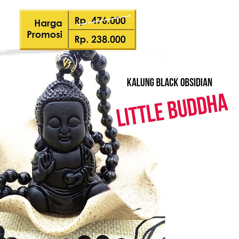 Kalung Black Obsidian Little Buddha (AB08)