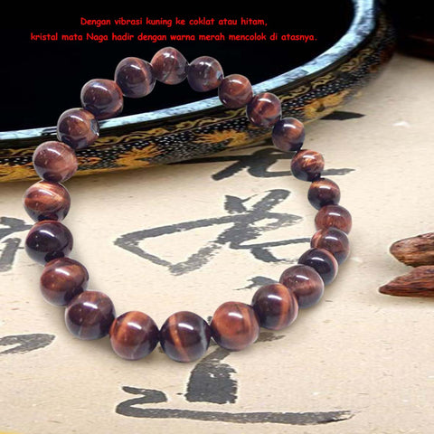Gelang Red Tiger Eyes Stone (Stone Of Harmony) (GS03)⁣