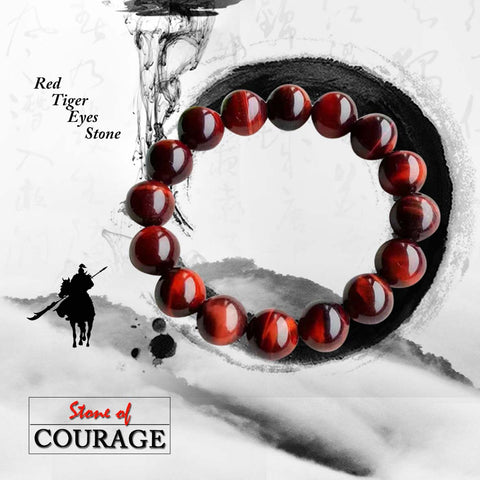 Gelang Red Tiger Eyes Stone (Stone Of Courage) (GS04)⁣⁣