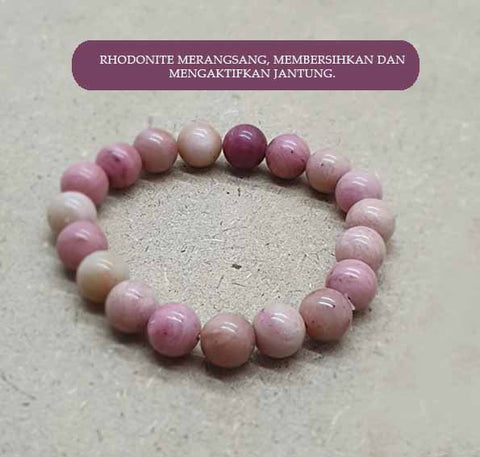 Gelang The Compassion Rhodonite Stone Premium (GBP67)