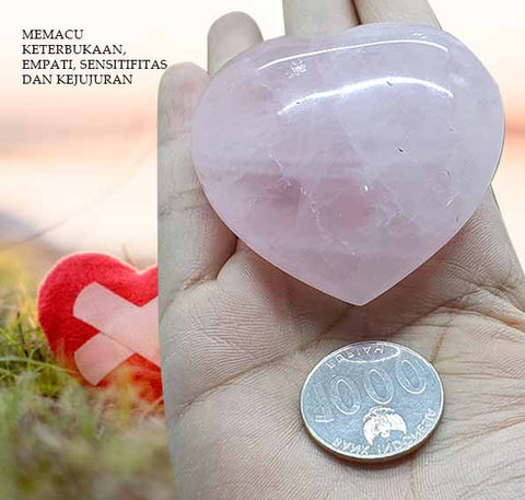 Batu Rose Quartz Heart Stone (BC30)