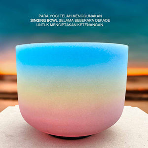Crystal Healing Rainbow Singing Bowl (SB07)