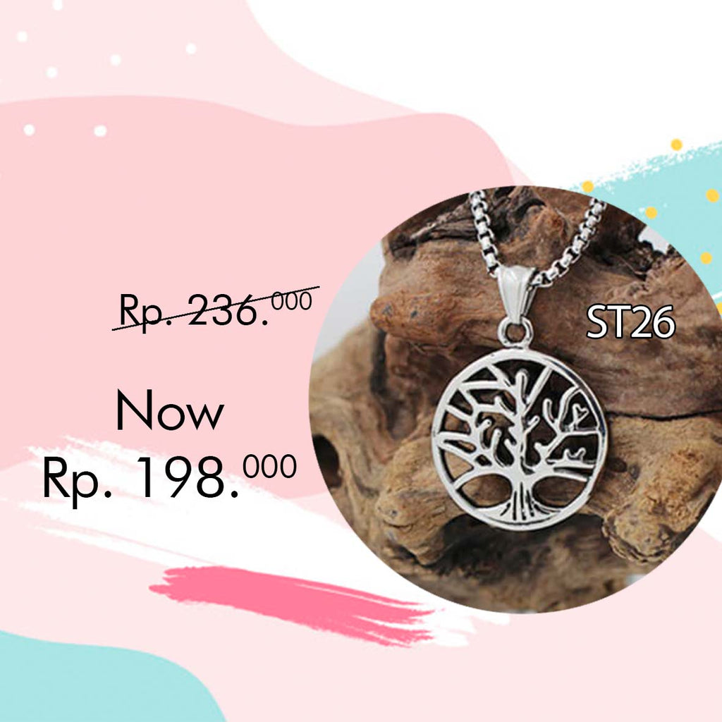 Liontin Kalung Pohon Bodhi (Tree Of Life) Retro Classic Style (ST26)