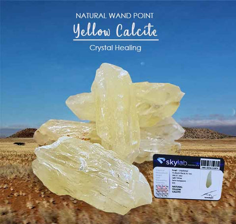 Crystal Healing Yellow Calcite Stone (BC119)