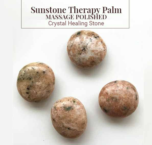 Sunstone Therapy Palm Massage Polished Crystal Healing (BC206)