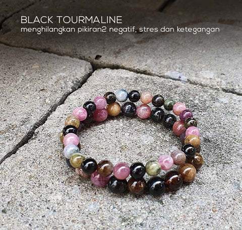 Gelang Colourful Tourmaline Stone (GBP152)