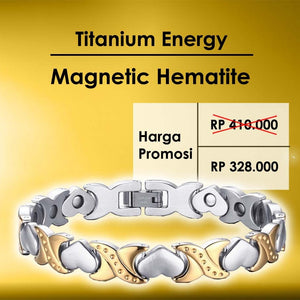Gelang Love Energy Magnetic Hematite (EN13)
